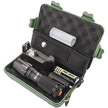 Internet X800 Zoomable XML T6 LED Tactical Linterna + 18650 Batería + Cargador + Estuche