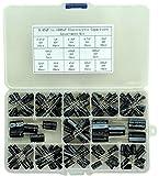 Electronics-Salon 0,47uF à 1000uF Kit d'assortiment de condensateurs électrolytiques, 13 valeurs, total 200 pièces