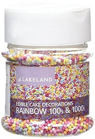 Lakeland Rainbow 100's & 1000's Cake Topper Edible Sprinkles