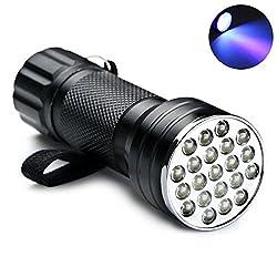 Uv Taschenlampe Momony Wasserdicht Ultraviolett Led Taschenlampe Mit 21 Leds 395-400nm, Schwarzlicht Led-handlampe Prüfgerät, Fleckenentferner Und Urinflecken Detektor, Geocaching, Skorpion-jagd-licht