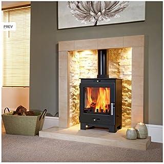 Flavel Arundel Multifuel Stove 4.9kW Metallic Black 2 year Warranty Multi Fuel by Fireplaces_online