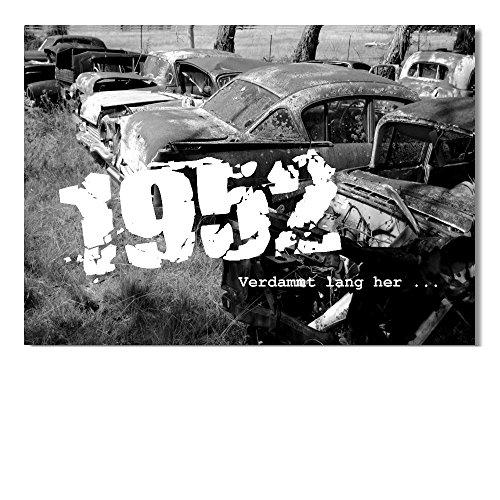 DigitalOase Glückwunschkarte 1952 66. Geburtstag Geburtstagskarte Grußkarte Format DIN A4 A3 Klappkarte PanoramaUmschlag
