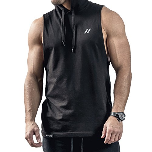 Hyperfusion Core Hooded Cut Off Tank Top Shirt Hoodie Gym Fitness