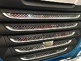 24/7Auto 10 Stück Set Edelstahl Front Grill Zubehör + Front Sensor Cover Badge XF 106 LKW hochglanzpoliert Dekorationen