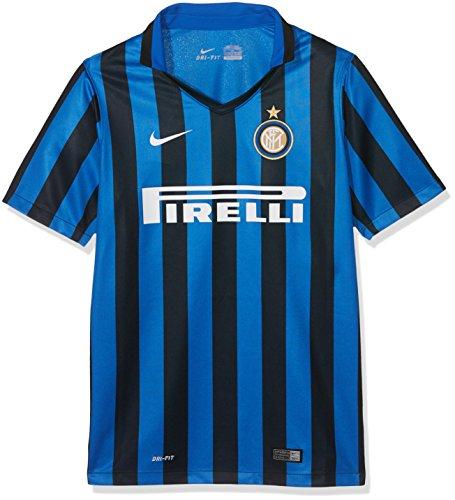 Nike 1º Equipación Inter de Milán 2015/2016 - Camiseta Oficial niño, Color Negro/Azul / Blanco, Talla L