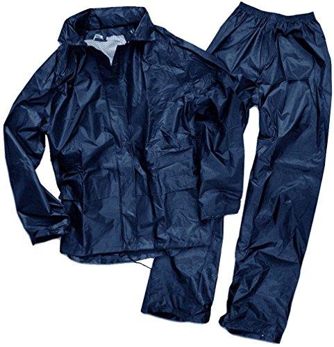 Mil-Tec Herren Regenanzug, Dunkel Blau, L