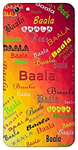 Baala (A Young Girl) Name & Sign Printed All over customize & Personalized!! Protective back cover for your Smart Phone : HTC one M-7 ( M7 )