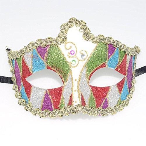 sken Augenmaske Party Face venezianische Maske, Masken Party Maske Geheimnisvolle Farbe Maske für Halloween Karneval Make up Color-3 (Gruppe Von Drei Halloween Kostüme)