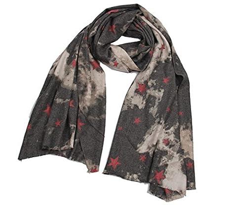 American Star Scarf Vintage Blanket Wrap Shawl foci cozi Soft