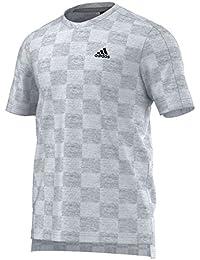adidas Check tee - Camiseta para Hombre, Color Blanco, Talla M