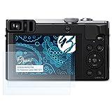Bruni Schutzfolie für Panasonic Lumix DMC-TZ71 Folie - 2 x glasklare Displayschutzfolie