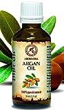 Argan Öl 50ml - 100% Natürliche & Reine Arganöl - Argania Spinosa Argan Oil - Marokko - Kaltgepresst & Desodoriert - Aus Kontrolliert Biologischem Anbau (Kba) - Besten Haaröl - Arganöl für Gesicht - Haar - Haut - Glasflasche - von Aromatika