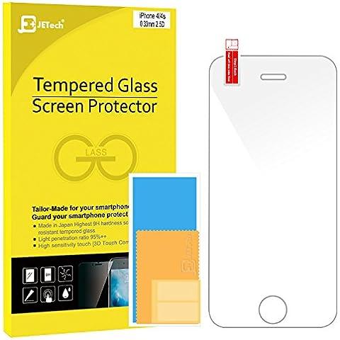 JETech® iPhone 4/4S Vidrio Templado Protector de Pantalla Empaquetado al por Menor para Apple iPhone 4/4S