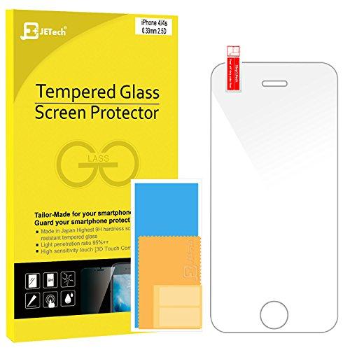 JETechà Apple iPhone 4/4S Film Protection en Verre trempé écran protecteur ultra résistant Glass Screen Protector pour iPhone 4/4S