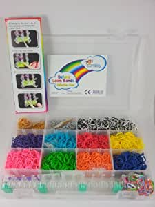 Rainbow Loom Bands / Twistz Bands complete Starter Kit/Case INCLUDES LOOM AND HOOK, Over 3600 Bands, Plus 100 S Clips, and More