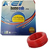 KEI-HOMECAB-FR 1.5 Sq.Mm PVC Insulated Single Wire-90M -Red