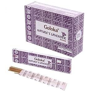 STOCK 3 PEZZI Confezione con 12 bastoncini Incenso goloka alla Lavanda