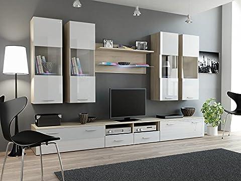 BMF Dream I Modern Hochglanz Wall Entertainment Unit/TV Ständer/Unterschrank, hängend,