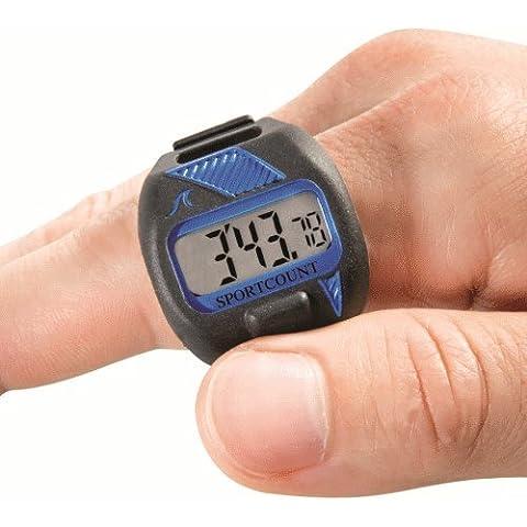 Cronometro con contavasche da dito per nuoto Combo - BLU