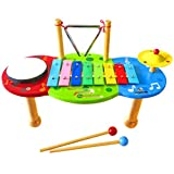 Keepdrum Kinder Glockenspiel Bunt (Musik-Tisch)