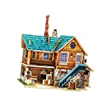 #9: Phenovo Wooden DIY 3D Puzzle Jigsaw House Model Construction Kit America Workshop