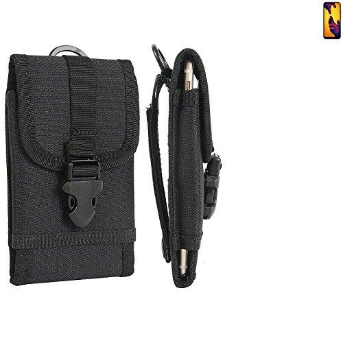 K-S-Trade Handyhülle für Huawei P20 Lite Dual-SIM Gürteltasche Handytasche Gürtel Tasche Schutzhülle Robuste Handy Schutz Hülle Tasche Outdoor schwarz