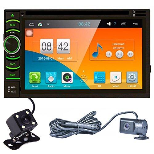Lacaca 6,5pollici HD Touch Screen Android 5.1.1doppio DIN Car Stereo CD Lettore DVD di navigazione GPS Supporto Bluetooth AM/FM integrata Steer Wheel Control MirrorLink + Backup telecamera di retromarcia + Dash Cam