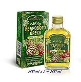 Zeder-Nuss-Öl, Kaltgepresst, Herkunft Altai Sibirien, 100 ml X 5 St.