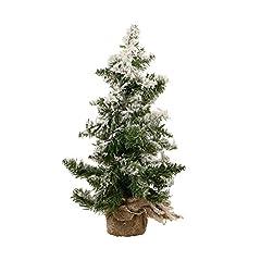 Idea Regalo - Albero di Natale INNEVATO - 43 rami - Altezza 50 cm - Colore: VERDE con fiocchi di neve bianchi