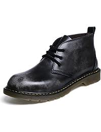 ZQ@QXStivali di tendenza, uomo stivali, tonaca stivali, Martin stivali stivali moto, scarponi da montagna, marea scarpe,cotone nero,42
