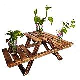 PHIRKCRAFT Home Decor Wooden Stool Set/ Garden Decor/ Decorative Fold-able Stool