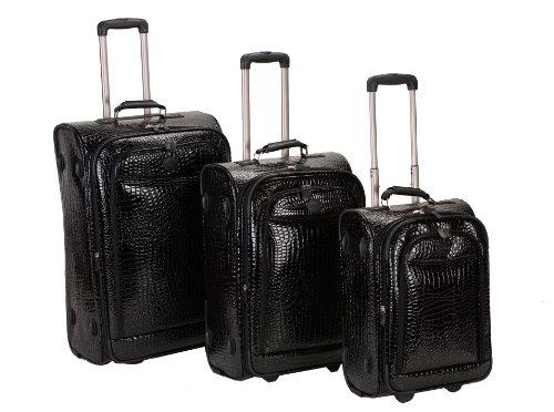 rockland-luggage-crocodile-style-3-piece-luggage-set-black-one-size