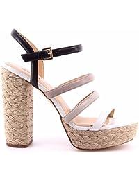 Zapatos Tacon Sandalia Mujer MICHAEL KORS Nantucket Platform Leather BlkPrl Grey