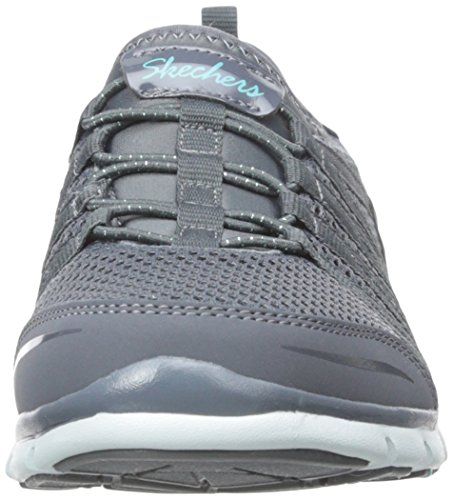 Skechers - Gratis shake-it-off, Scarpe da ginnastica Donna Carbone