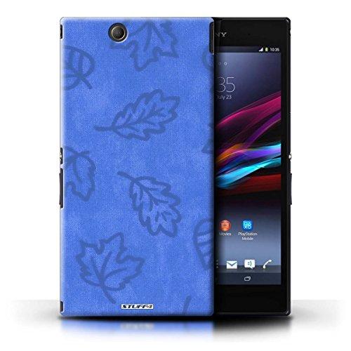Kobalt® Imprimé Etui / Coque pour Sony Xperia Z Ultra / Rose conception / Série Motif Feuille/Effet Textile Bleu