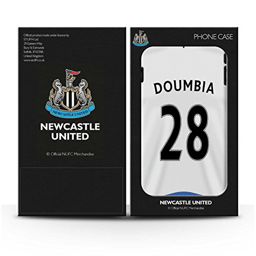 Offiziell Newcastle United FC Hülle / Gel TPU Case für Apple iPhone 6+/Plus 5.5 / Pack 29pcs Muster / NUFC Trikot Home 15/16 Kollektion Doumbia