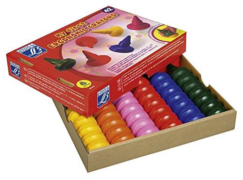 Lefranc Bourgeois - Maxi crayons pour enfants - Boîte de 42 crayons - 6 couleurs de 7