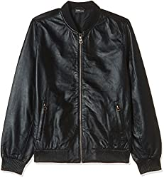 Lee Mens leather Jacket (8907222745448_L18799L02K9900M_Medium_Black)