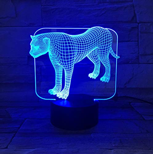 ZJFHL 3D Night Light sky Night Light Tunnel Lights Unendlich Spiegel Lights Led Nachtlichter Cute Leopard Für Familienführung Cute Leopard