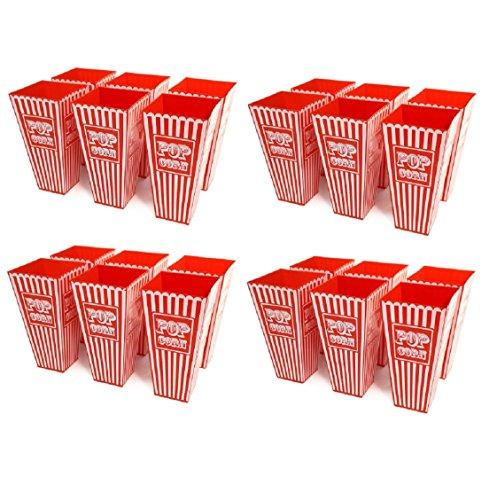 24x Retro gestreift American Kunststoff Popcorn Halter 20cms Hoch ca. Badewanne Popcorn Box für kinobesuche Cinema Parteien Theater