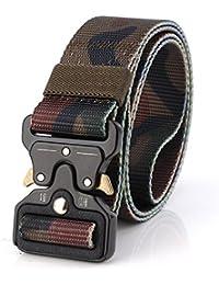 ITIEZY Taktischer Gürtel, Herren Textil Gürtel Kobra Militär Taktischen  Heavy Duty Verstellbarer Nylon-Gürtel… 1721f2f813