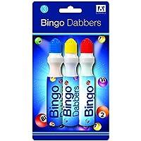 Pack de 3calidad varios colores Bingo Dabbers rotuladores billete Dabbers–Cartones de bingo
