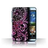 Stuff4 Hülle / Case für HTC Desire Eye LTE / Schwarz/Rosa