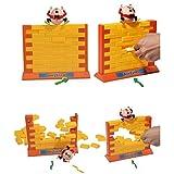 Hunpta Wandspiel Interaktive 3D Kunststoff Eltern-Kind Familie Spiel Spaß Weihnachtsgeschenk (Gelb)