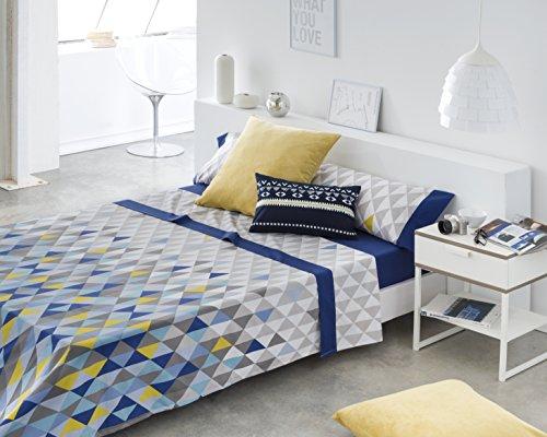 Outflower Formas geom/étricas de Colores Funda de Almohada Lino, Simple tri/ángulo Enrejado Funda de coj/ín Impresos//Dormitorio//sal/ón//Oficina//Coche//Sof/á 45/* 45/cm