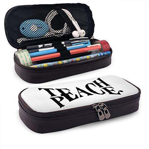 Iop 90p Teach Peace Aufbewahrungstasche Geldbörse Organizer Kosmetiktasche Reisetaschen, PU, Schwarz, Einheitsgröße - Peace-zeichen-geldbörse