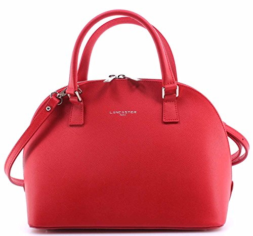 sacs-femmes-lancaster-paris-rouge-cuir-de-vachette-made-in-france-nouveau-new