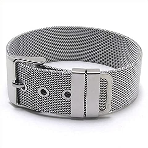 Epinki Stainless Steel Bracelet, Womens Watch Buttons Bracelet Silver Length 8.26 Inch