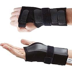 Actesso DELUXE Handgelenkbandage Handgelenkschiene (Mittelgroß Rechts). Schmerzlinderung von Karpaltunnelsyndrom, Verstauchungen und Arthritis des Handgelenks - Medizinisch bewährt