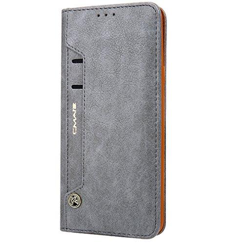 """HARRMS Handyhülle Handytasche Apple iPhone XR 6,1"""" mit Kartenfach Kredit Karten Geldklammer Hülle Kunst Leder Handy Schutzhülle"""